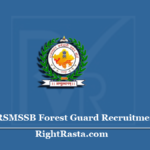 RSMSSB Forest Guard Recruitment 2020 | Apply for Rajasthan Forest Vacancy