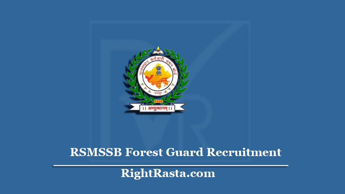 RSMSSB Forest Guard Recruitment