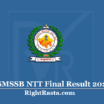 RSMSSB NTT Final Result 2020 | Check Rajasthan Nursery Training Teacher 2nd DV List