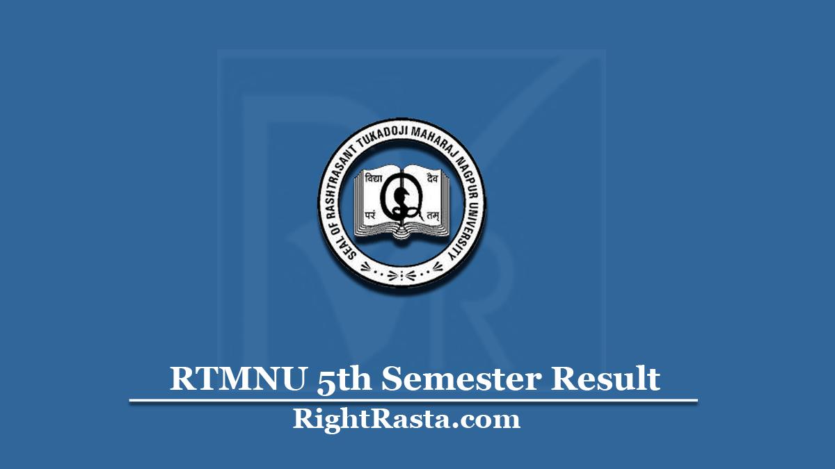 RTMNU 5th Semester Result