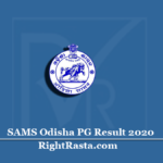SAMS Odisha PG Result 2020 (Out) | Download CPET Merit List