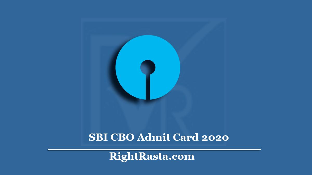SBI CBO Admit Card