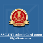 SSC JHT Admit Card 2020 (Out) | Download Junior Hindi Translator Hall Ticket