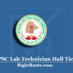 TSPSC Lab Technician Hall Ticket 2020 (Out) | Download Telangana LT Admit Card