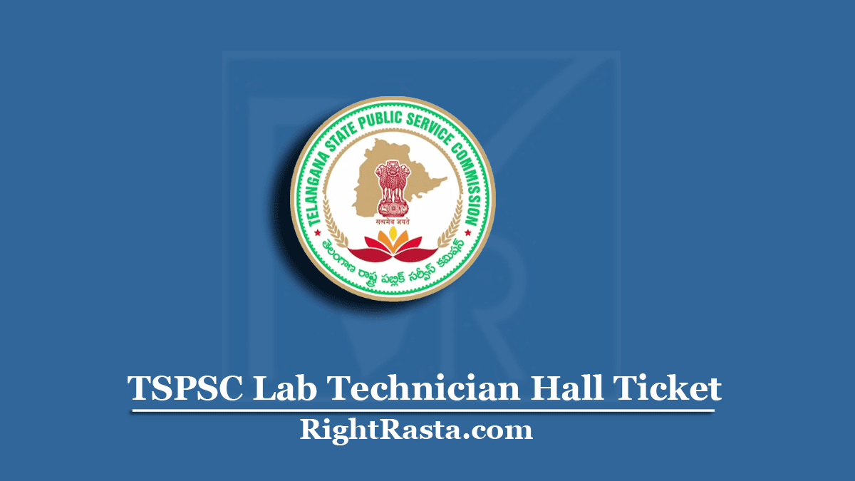 TSPSC Lab Technician Hall Ticket