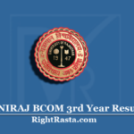 UNIRAJ BCOM 3rd Year Result 2020 (Out) | Download RU B.Com Final Results
