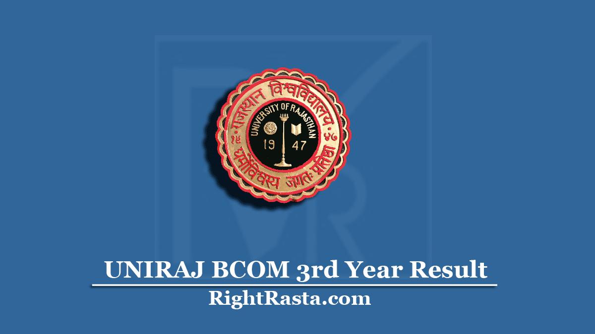 UNIRAJ BCOM 3rd Year Result