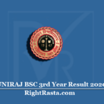 UNIRAJ BSC 3rd Year Result 2020 (Out) | Download UOR B.Sc Final Results