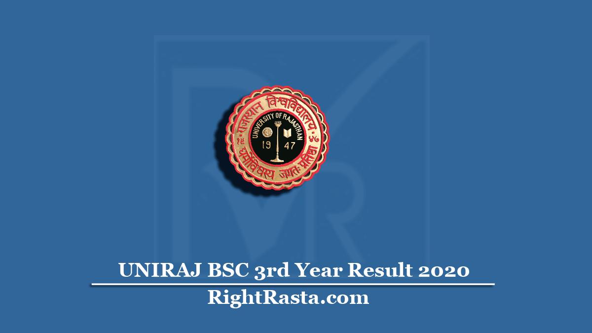UNIRAJ BSC 3rd Year Result