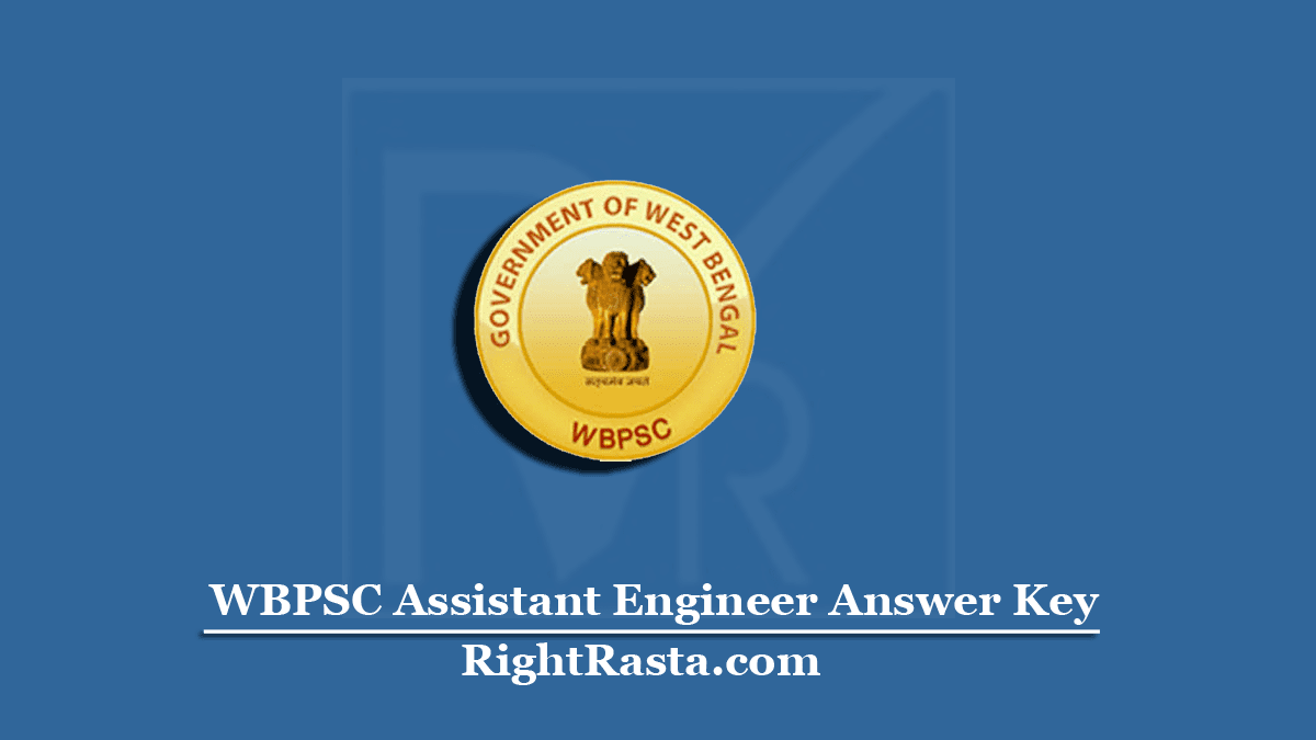 WBPSC Assistant Engineer Answer Key