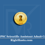 WBPSC Scientific Assistant Admit Card 2020 (Out) | Download PSC SA Hall Ticket