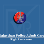 www.recruitment2.rajasthan.gov.in Admit Card 2020 (Out)   Download RP Hall Ticket