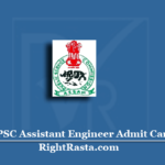 APSC Assistant Engineer Admit Card 2020 (Out) | Download Assam AE Hall Ticket