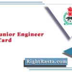 APSC Junior Engineer Admit Card 2020 (Out) | Download Assam PSC JE Hall Ticket