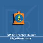AWES Teacher Result 2020 (Out) | Download APS PGT TGT PRT Exam Merit List