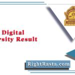 BAMU Digital University Result 2020 (Out)   Download BA BSC BCOM Exam Results