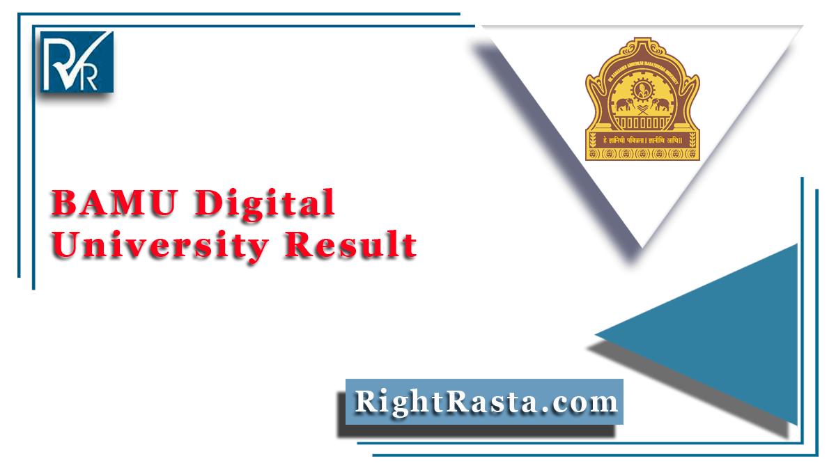 BAMU Digital University Result