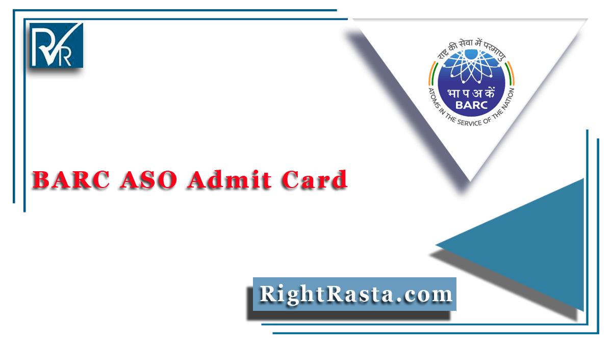 BARC ASO Admit Card