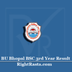 BU Bhopal BSC 3rd Year Result 2020 (Out) | Download Barkatullah University B.SC Final Results