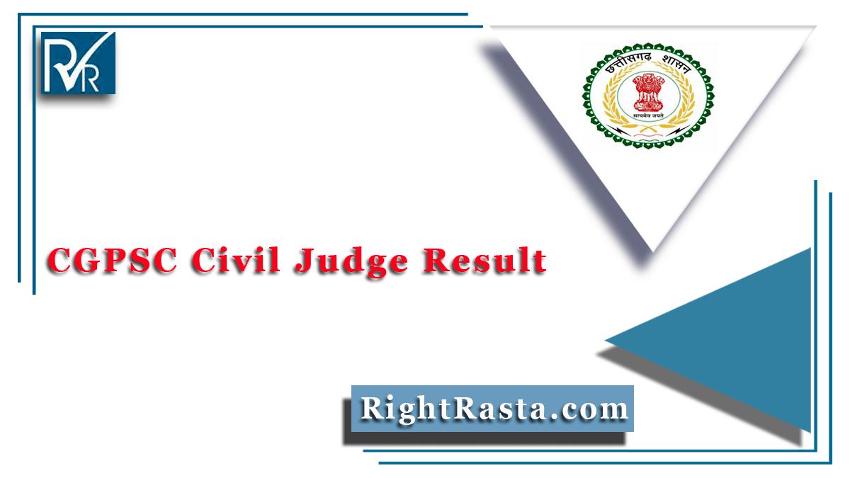 CGPSC Civil Judge Result