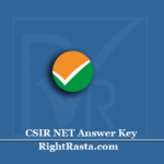 CSIR NET Answer Key 2020 (Out) | Download June Exam Key PDF