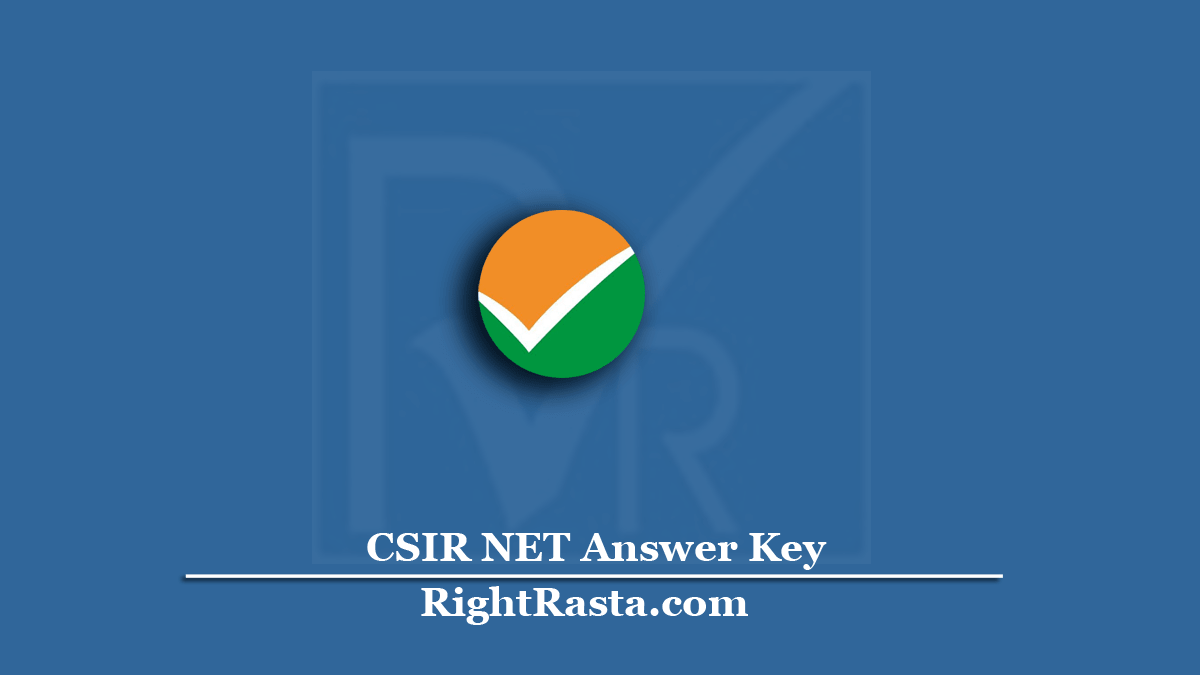CSIR NET Answer Key