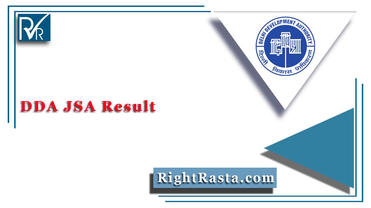 DDA JSA Result