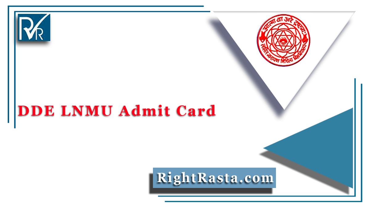 DDE LNMU Admit Card