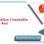 Delhi Police Constable Answer Key 2020 (Out) | SSC DP CT Answer Sheet PDF