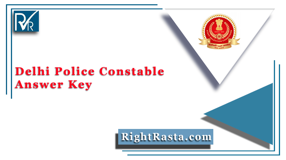 Delhi Police Constable Answer Key