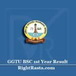 GGTU BSC 1st Year Result 2020 (Out) | Download Banswara University B.SC Part 1 Results