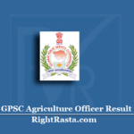 GPSC Agriculture Officer Result 2020 (Out) | Download Gujarat PSC Exam Results