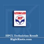 HPCL Technician Result 2020 (Out) | Operation & Boiler Technician Merit List