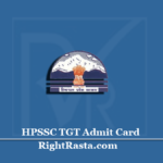 HPSSC TGT Admit Card 2020 (Out) | Download HPSSSB TGT Arts Hall Ticket
