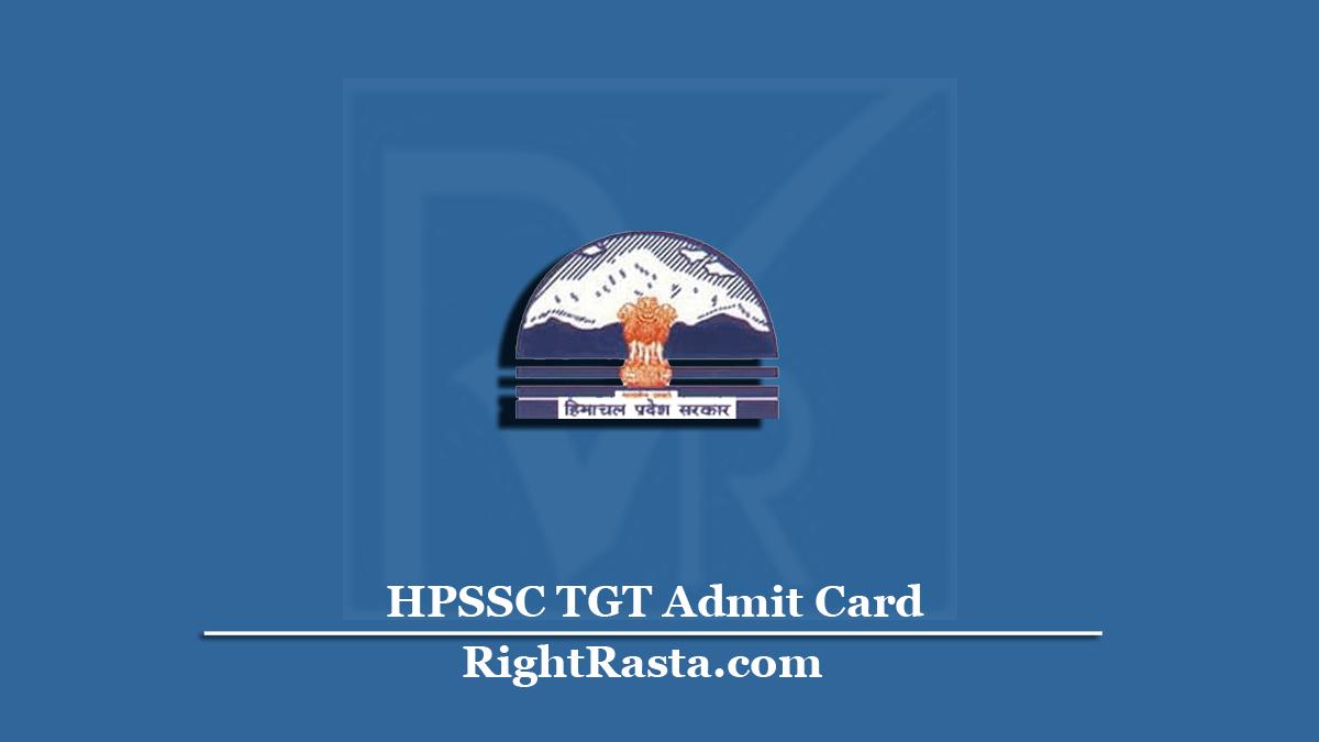 HPSSC TGT Admit Card