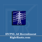 HVPNL AE Recruitment 2020 (Out) | Apply for Haryana Assistant Engineer Vacancy