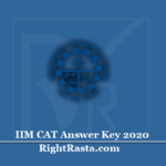 IIM CAT Answer Key 2020 (Out) | Download Common Admission Test Key PDF
