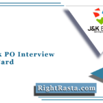 JK Bank PO Interview Admit Card 2020 (Out) | Probationary Officer Call Letter