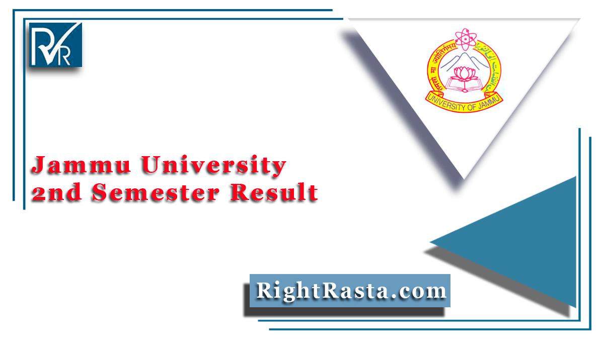 Jammu University 2nd Semester Result