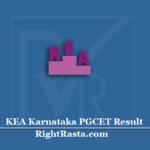 KEA Karnataka PGCET Result 2020 (Out)   Download KAR PG CET Rank Card