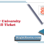 Kannur University SDE Hall Ticket 2020 (Out) | Distance Education Admit Card