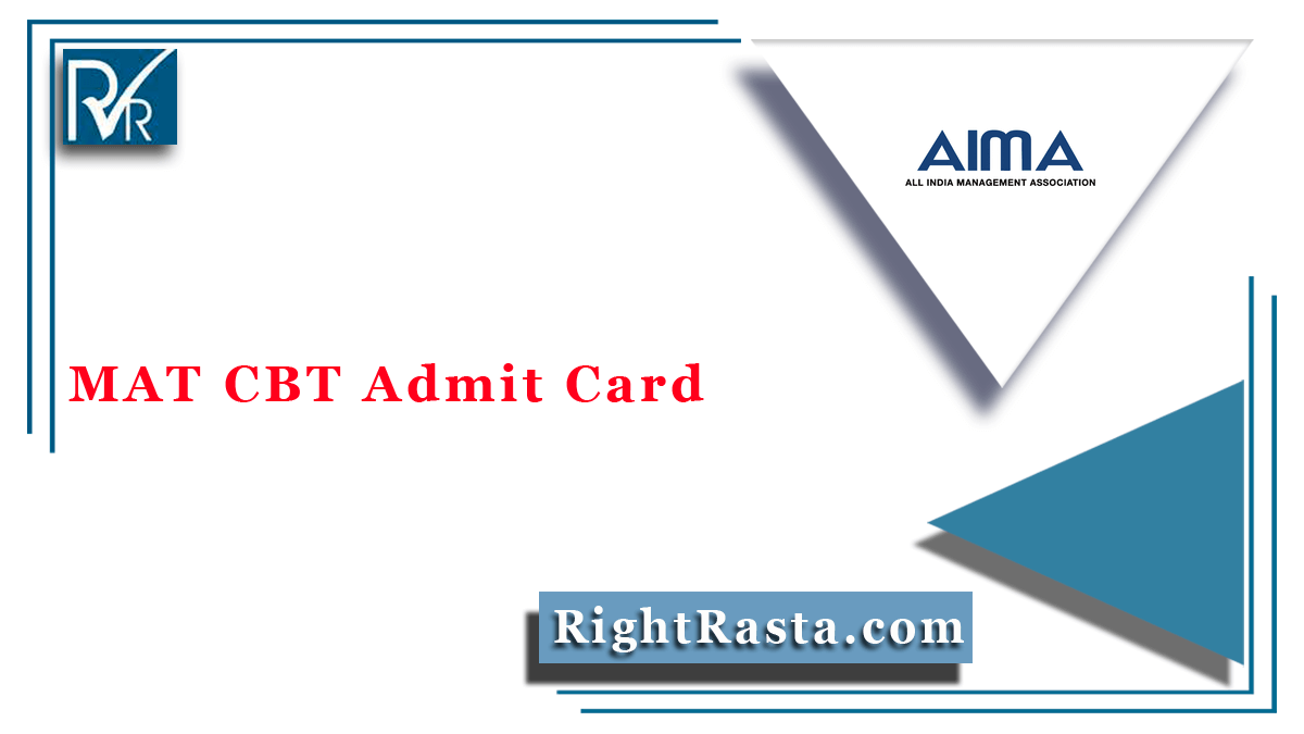 MAT CBT Admit Card
