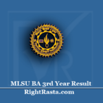 MLSU BA 3rd Year Result 2020 (Out) | Download B.A Final Exam Results