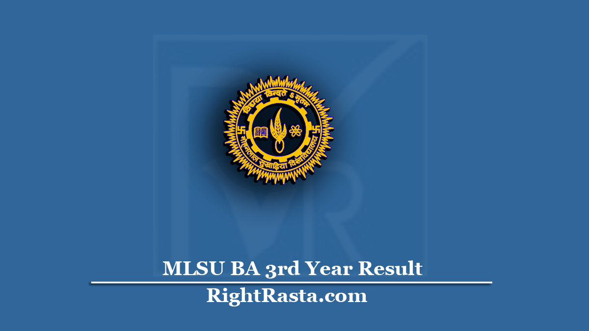 MLSU BA 3rd Year Result