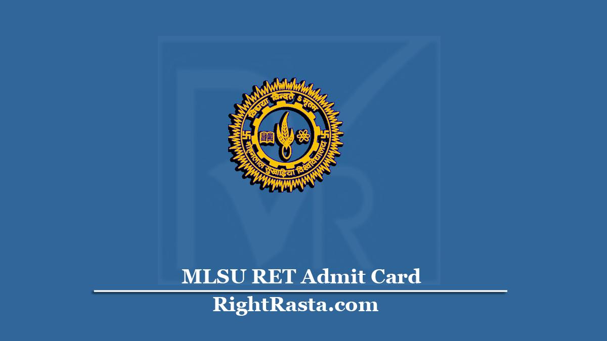 MLSU RET Admit Card