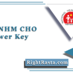MP NHM CHO Answer Key 2020 (Out) | Community Health Officer Key