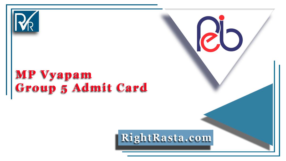 MP Vyapam Group 5 Admit Card
