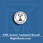 NBE Junior Assistant Result 2020 (Out) | Download Stenographer Accountant Marks