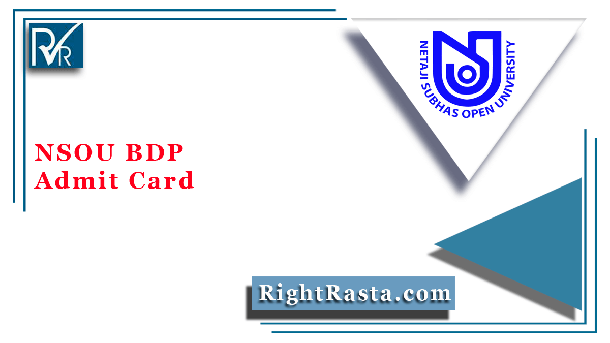 NSOU BDP Admit Card