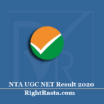 NTA UGC NET Result 2020 (Out) | Download National Eligibility Test Results